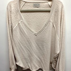 urban outfitters fuzzy long sleeve top